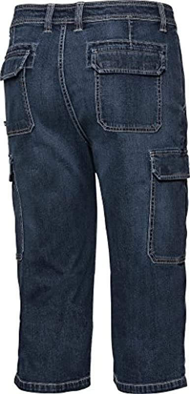 Henson & Henson Cargo Capri-Jeans, spodnie 3/4 dla mężczyzn, rozciągliwe dżinsy, krÓtkie spodnie na lato, rozm. 24 – 60, w wielu kolorach: Odzież