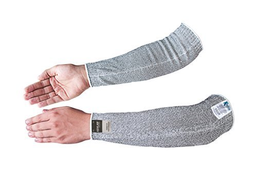Spectra Cut Resistant Arm Sleeves Ribbed Ends 14 Inch (EN 388 Cut Level-4)
