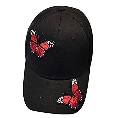 ONEMORES Unisex Butterfly Baseball Cap Snapback Hip Hop Flat Hat