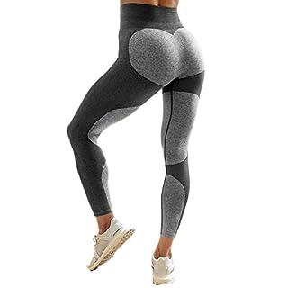 Latest Hot! Women's Fitness Leggings Workout Ankle-Length Yoga Pants Super Stretch Sportwear #4 Gray,XL UPS Post