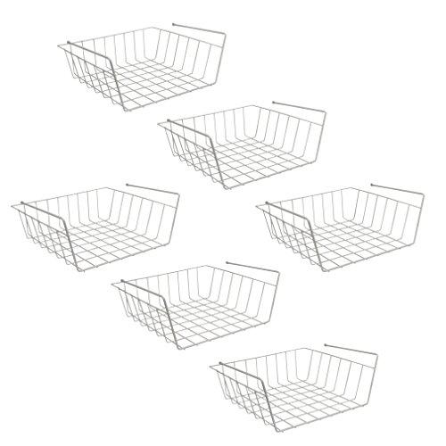 Evelots under shelf basket racks easily slide under shelf for Under shelf basket wrap rack