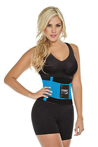 bf3024b1325 ShapEager Body Shapers Shapewear   Fajas-New Latex Sport Waist Trimmer  Tecnomed Turquoise