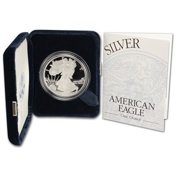 1993 Proof Silver Eagle (2003 W Proof American Eagle Silver Dollar with Original Packaging and COA $1 PR DCAM US Mint)