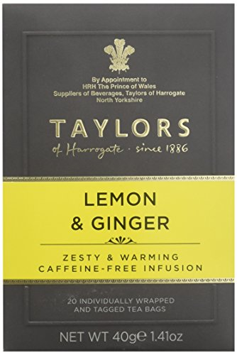 Taylors of Harrogate Lemon & Ginger Herbal Tea, 20 Teabags - Ginger Infusion