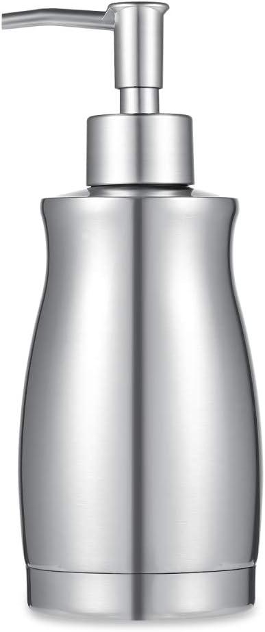 ARKTEK Soap Dispenser - Stainless Steel Rust and Leak Proof System Hand Soap Dispenser, Kitchen Sink and Bathroom Pump for Liquid (13.5 Ounce / 400ML)