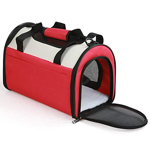 JJL Pet Carrier Tote Around Town Pet Carrier Portable Dog Handbag Dog Purse for Outdoor Travel Walking Hiking Bag Pet Supplies (Color : Red, Size : L:503033cm) ()