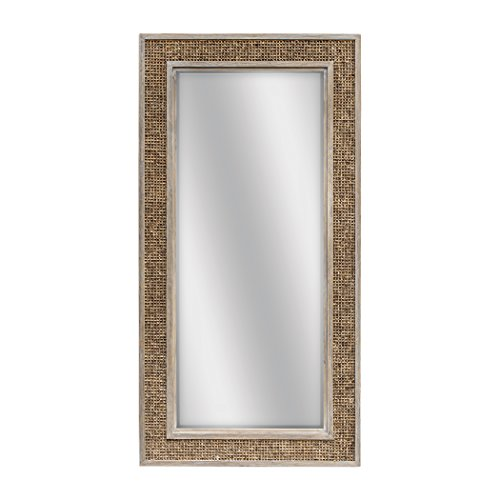 - Uttermost Hand Woven Frame Wall Mirror in Weathered Oak Stain