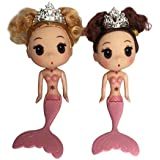 Artswow Mermaid Doll Toy for Girls - Educational Toys Cake Ornaments Decorative Baby Doll for Girls Birthday Cake 1 Piece Only(Pink)