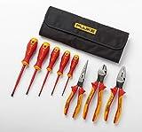 Fluke Insulated 5 Screwdriver + 3 Plier Tools Starter Kit, 1000V