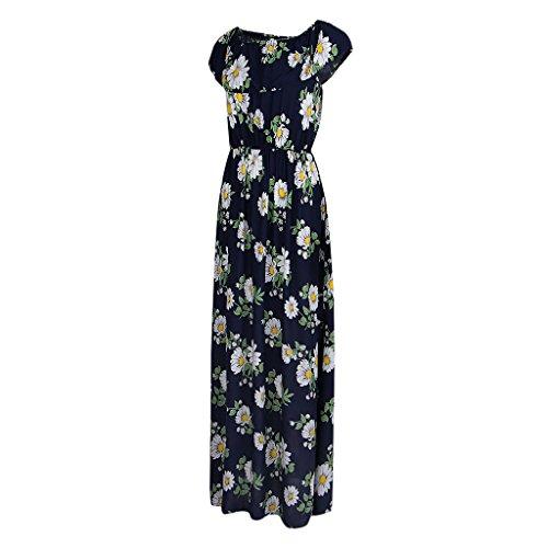 Sin Mujeres azul Vestido de Casa Largo Club Tirantes Floral 2 Noche Verano Impresión Magideal Maxi a Regreso xSXqw8ZZ