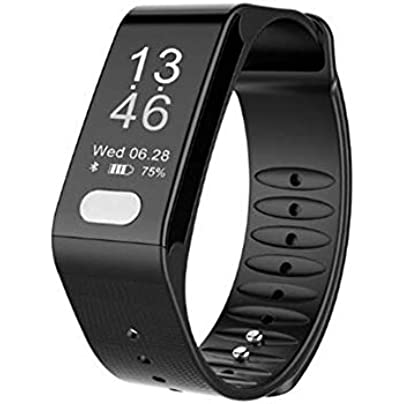 Fitness Tracker Wristband Heart Rate Blood Pressure Sleep Monitoring ECG PPG Pedometer Smart Watch for Kids Women and Men Estimated Price £59.99 -