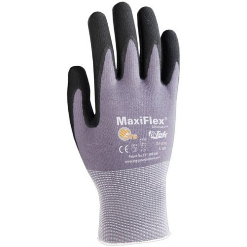 34-874 Small Maxiflex Ultimate Gloves, Small, 12 Pairs/Pkg. (Vacuum Hose Esd Safe)