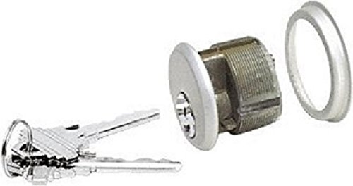 10-Pack (Same Keys) Mortise Lock Cylinders, Adams Rite Cam for Storefront Doors in Aluminum