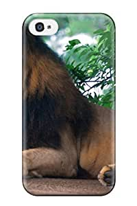 5915813K67403395 Special Skin Case Cover For Iphone 4/4s, Popular Lion King Of Zoo Phone Case