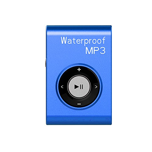 MIUSUK Waterproof MP3 Player Built-in 8GB Swimming Diving Sports with Waterproof Headphones Players Support FM Radio and Shuffle Feature Perfect Swimming Companion (Blue) (Best Music Player Osx)