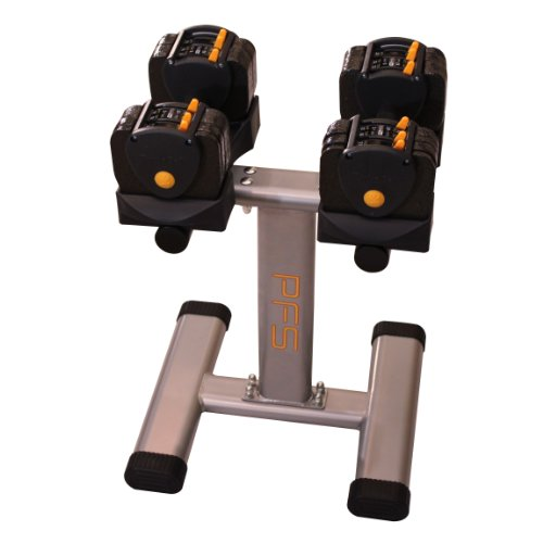 Performance Fitness Systems Adjustable Dumbbells with Stand - 3-24 lbs. by PFS (Image #4)