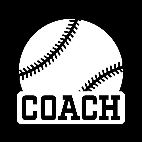 Baseball Coach Vinyl Decal Sticker | Cars Trucks Vans Windows Walls Cups Laptops | White | 5 X 4.8 Inches | ()