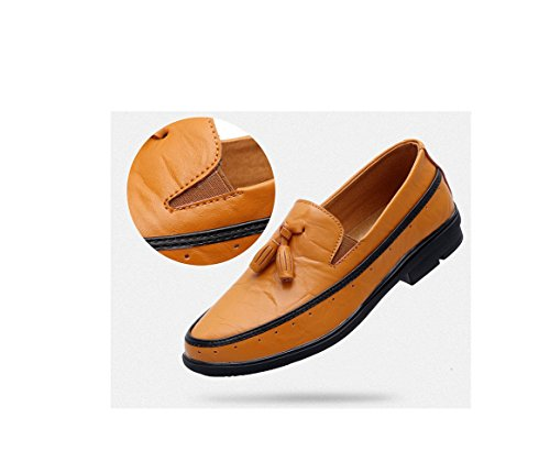 Casual Autunno Lavoro Scarpe Scarpe su da da in Uomo Tela Sport zmlsc Brown Nero Scarpe Business Blu Scarpe Giallo Pizzo Primavera vn5q44
