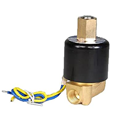 """PerfecTech Brass 2-Way 1/8"""" DC 12V Gas Water Air Electric Solenoid Valve Normally Open by PerfecTech"""