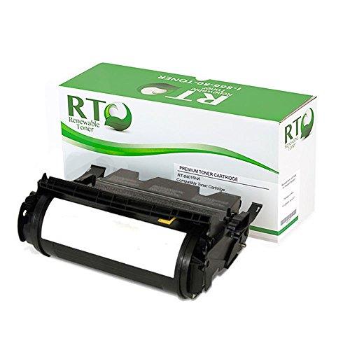 Renewable Toner 64015HA / T640 Compatible Black Toner Cartridge 21K Yield for Lexmark T640 T642 T644 series (21k Black Toner)