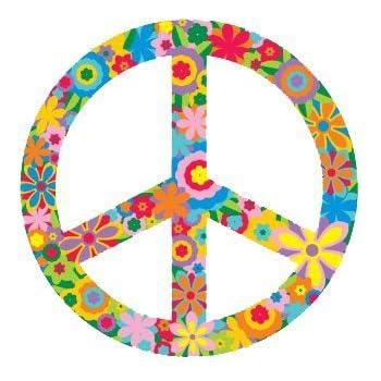 Amazon Flower Peace Sign Symbol Hippie Peace Anti War