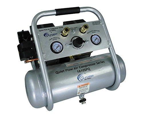 - California Air Tools 1610SQ Quiet Flow 1.0 Hp, 1.6 Gal. Steel Tank Air Compressor