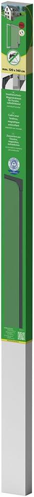easy life Moustiquaire en PVC avec cadre magn/étique pour fen/êtres facile /à instaler sans per/çage et individuellement raccourcissable Taille:100 x 120 cm Couleur:Anthracite