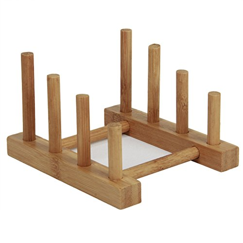 Bamboo Mug Tree Rack Dish Rack Drain Rack Storage Rack Chopp