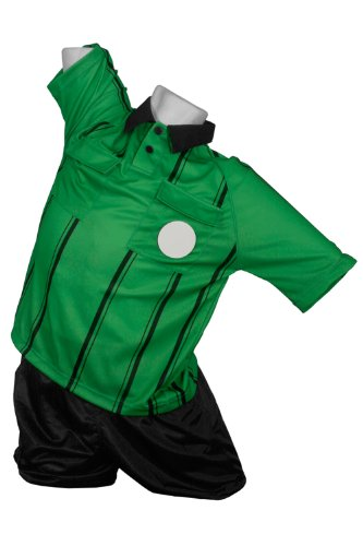 Kwik Goal Premier Referee Jersey, Green, Small ()