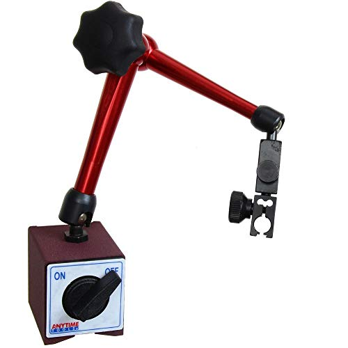 Anytime Tools Magnetic Base Dial Digital Test Indicator Holder 3D Central Locking 176 lb Heavy Duty ()