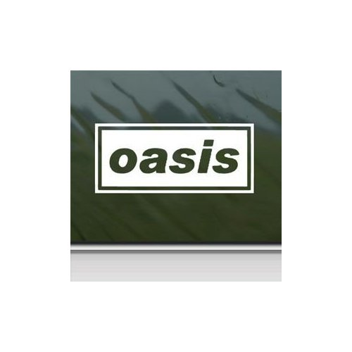 OASIS ENGLISH ROCK BAND WHITE COLOR AUTO DECORATION WINDOW ADHESIVE VINYL MACBOOK BIKE DECOR WALL ART DIE CUT HELMET VINYL ART STICKER ()