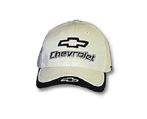 Chevrolet Bowtie Embroidered Black /& Bone White Hat