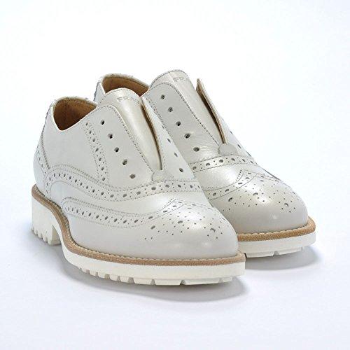 FRAU - Zapatos de cordones de Piel para mujer Hueso Ghiaccio