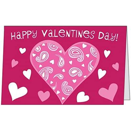 Valentines Day Love Child Daughter Spouse Husband Heart Pretty Wife Greeting Card (5x7) by QuickieCards. Always Sales