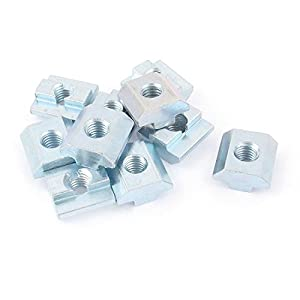 10Pcs 80/20 Inc T-Slot Hardware 40 Series M8 Slide In T-Nut from uxcell