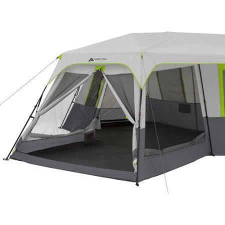 ... Ozark Trail 12-Person 3-Room Instant Cabin Tent with Screen Room (Green ...  sc 1 st  Hiking C&ing & Product Ozark Trail:Ozark Trail 12 Person 3 Room Instant Cabin ...