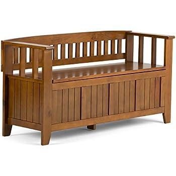 Amazon Com Coaster Bench Wood Storage Bench Kitchen Amp Dining