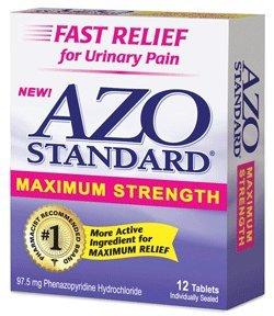 AZO Standard Maximum Strength douleur urinaire de secours 12 comprimés