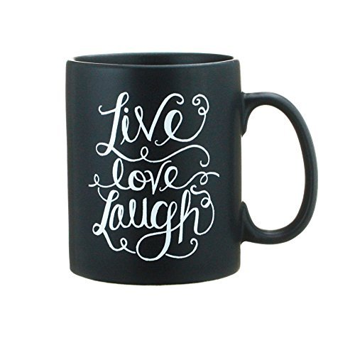 Primitives By Kathy Live Love Laugh Coffee Tea Stoneware Mug or Cup 20oz 4.5 Inches Tall By 5 Inches Wide Including Handle