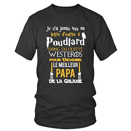 Famille Fer De shirt Fans Geek Top Poudlard Galaxie Des Papa Closset La Col T Le Homme Trône Étoiles Guerre Collection Rond qtRFwcxpZ