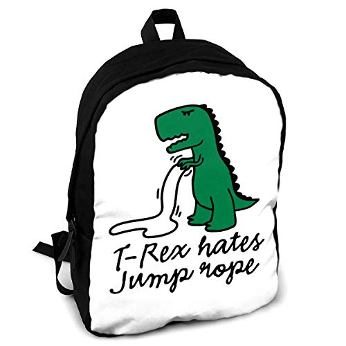 (Giinly T-Rex Hates Jump Rope Full-Size Printed Custom Multipurpose School Bag Backpack Travel Daypack for Adult)