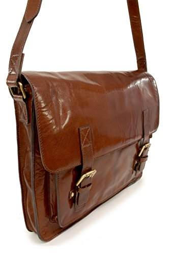 Borsa In Josh Messenger Castagna Pelle Marrone Ashwood 44Rpqr