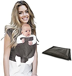 Baby Sling Carrier Baby Wrap Carrier Hands Free Wraps for…