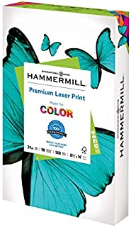 product image for Hammermill Printer Paper, Premium Laser Print 24 lb, 8.5 x 14-1 Ream (500 Sheets) - 98 Bright, Made in the USA
