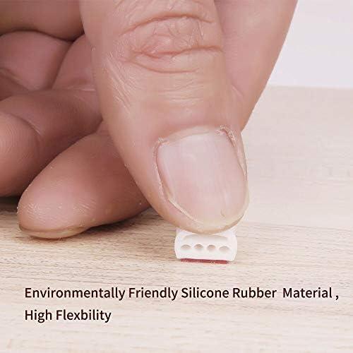 per una maggiore sicurezza Fermaporta in gomma antiscivolo di alta qualit/à colore nero