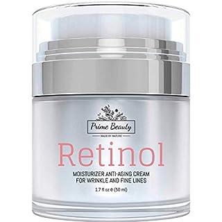 Prime Beauty Retinol Moisturizer Cream for Face and Eye Area – With Hyaluronic Acid, Jojoba Oil, Vitamin E, Retinol – Anti Aging, Anti Wrinkle, Fine Lines – Organic Skin Care – Day and Night Cream 1.7