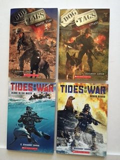 Alexander London (Set of 4) Dog Tags: Semper Fido & Strays; Tides of War: Blood in the Water & Honor Bound