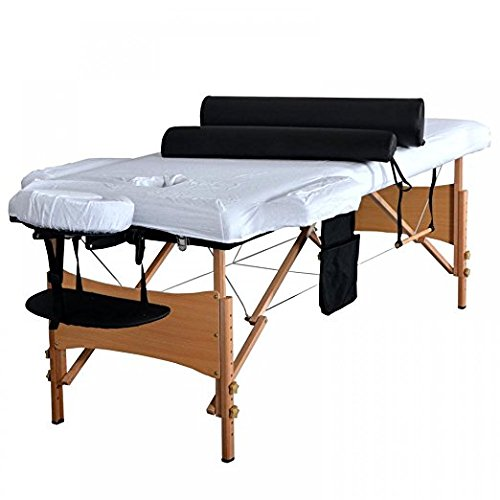 84''L 3 Fold Massage Table Portable Facial Bed W/ Sheet Bolsters Carry Case 3 by BestMassage (Image #4)
