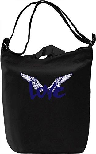 Love Wings Borsa Giornaliera Canvas Canvas Day Bag| 100% Premium Cotton Canvas| DTG Printing|