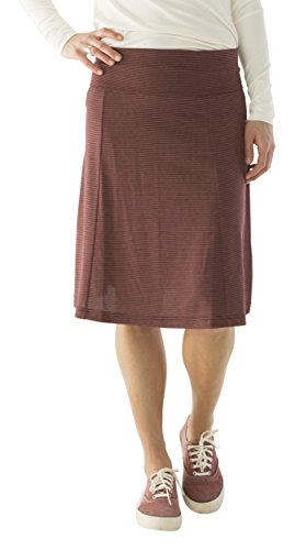 (CARVE Designs Women's Saxon Skirt, Small, Mulberry Southwest Stripe )
